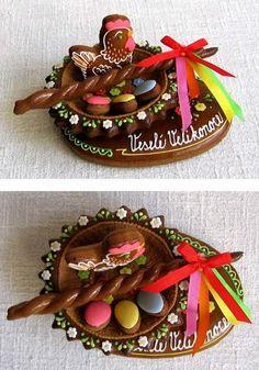 dekorace: Easter Cookies, Edible Art, Royal Icing, Gingerbread Cookies, Birthday Cake, Cooking, Desserts, European Countries, Czech Republic
