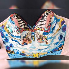 Hand Painted corset top Butterfly effect