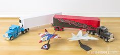 Take model trucks and airplanes from standard-issue basics to display-ready keepsakes by airbrushing them before assembly.