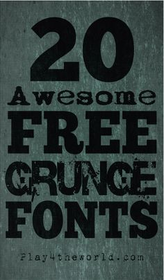 Check out this list of 20 Awesome Free Grunge Fonts! Grunge fonts can be used in all kinds of projects, from gig posters, to business cards.