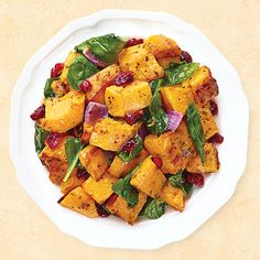 Roasted Butternut Squash with Baby Spinach & Cranberries - Wegmans