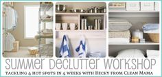 Easy, manageable steps to a more organized home.