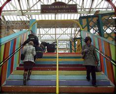 Homebase at Carlisle Station - Stairs Cumbria, Carlisle, Ancestry, England, Victoria, Architecture, City, People, Travel