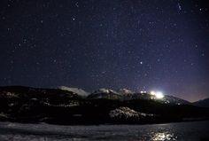 Whistler BC Canada - Green lake looking at Blackcomb mountain