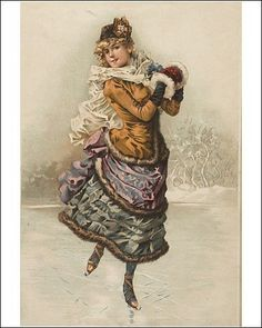 Photographic Print of Victorian Ice Skating from Mary Evans: Amazon.co.uk: