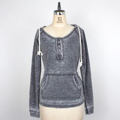 Burnout Henley Pullover Black, now featured on Fab.