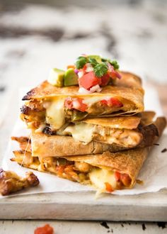Recipes-Only |   OVEN BAKED CHICKEN QUESADILLAS