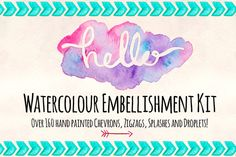 160+ Watercolor Embellishment Kit by Violet LeBeaux on Creative Market