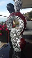 Mozaïek Sculpture (mozaïek) gemaakt door Jamila