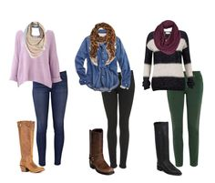 Fall boot trend: Skinny jeans + sweater + accessories