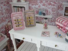 Measuring Tape on a display, dollhouse miniature, scale 1:12