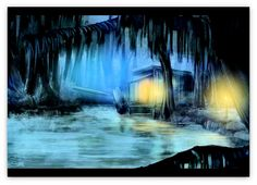 """NIGHTFALL in the BAYOU Art Print - FREE Shipping • Click on image for awesome view • 100% Mint unused condition • Well discounted price • print is 12"""" x 18"""" • Semi-Gloss Finish • Superb art at a discounted price,  • Usually ships within 72 hours or less with tracking. • Satisfaction guaranteed or your money back. • Click on image for awesome view. Print is on sale postage paid.. We accept all major Credit Cards.. Go to: Sportsworldwest.com"""