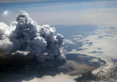 The July 12 explosion of the 3,500-foot (1,067-meter) Okmok Volcano on Umnak Island, Alaska spewed ash and sulfur dioxide 50,000 feet (15,240 kilometers) high, and the materials have since formed into a large mass hovering above the North Pacific.  The new eruption is more intense than the volcano's past three major events in 1945, 1958, and 1997.  This explosion is uniquely water-rich, due to the mixing of rising magma and shallow groundwater.