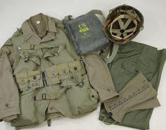 D-Day Assault Troop Package as worn by Army Rangers at Omaha Beach Military Gear, Military History, Us Ranger, American Uniform, Us Army Rangers, Ww2 Uniforms, Band Of Brothers, D Day, Armed Forces
