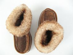 Kids Leather slippers/Fur slippers/Napa slippers/ Greek by EATHINI