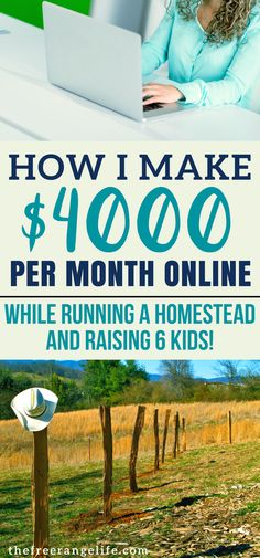 Make money online while being a SAHM, running a homestead. You can make money blogging to!
