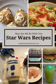 Star Wars Dinner Club and Recipe Round Up ~ Simply Inspired Meals Star Wars Themed Food, Star Wars Food, Star Wars Day, Dinner Party Menu, Dinner Club, Dinner Themes, Star Wars Essen, Disney Dinner, Party Food Platters