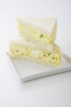 Afternoon tea: Watercress Egg Salad Tea Sandwiches (idea: put these on crescent rolls)