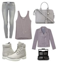"""gray scale"" by kaye-viecelli on Polyvore featuring Alexander McQueen, Timberland, Rebecca Minkoff, Paige Denim, NARS Cosmetics, women's clothing, women, female, woman and misses"