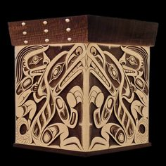 Beaver and Wolf Clan Bentwood Box  Doug Zilkie  Haida Nation