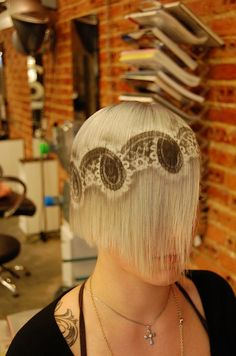 Hair Stenciling.this is very unique.not sure if I like or dislike it..hmmmm