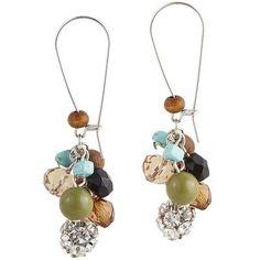Multi Color Beaded Drop Earrings