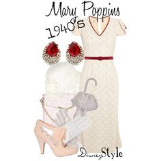 """""""Disney Style : Mary Poppins"""" by missm26 on Polyvore"""