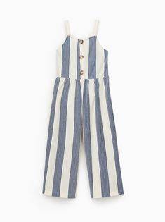 Buttoned jumpsuit - Jumpsuits and Romper Zara Kids, Frocks For Girls, Girls Dresses, Jumpsuit For Kids, Baby Couture, Jumpsuits For Girls, Cute Outfits For Kids, Jumpsuit Dress, Overall