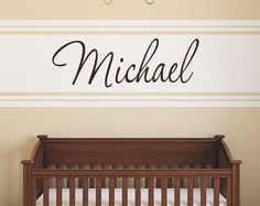 Boys Name Decal   Childrens Wall Decal  Custom by LucyLews on Etsy, $12.00