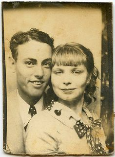 Ray & Florence. #vintage #photobooth #1930s