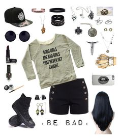 .be bad. by talane815 on Polyvore featuring polyvore fashion style Chloé Converse Replay L. Erickson MiraVos SF Mia Sarine Boucheron Haridra Midsummer Star Blu Bijoux Lipsy The Row Manic Panic NYC clothing
