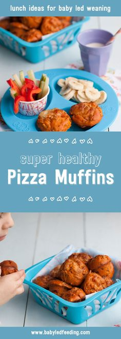 These Super Healthy Pizza Muffins are a perfect baby led weaning lunch recipe (blw), they are not only nutritious but are also really yummy! via @https://www.pinterest.com/babyledfeeding