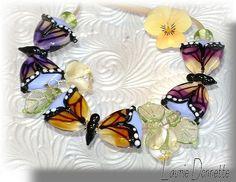 Butterfly Lampwork beads...