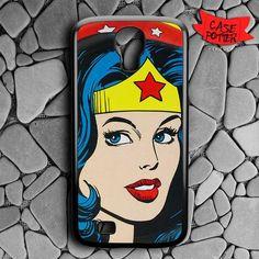 Wonder Woman Red Lips Samsung Galaxy S4 Black Case