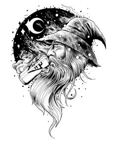 DRUNK WIZARD BY ARTIST MATT LOOMIS