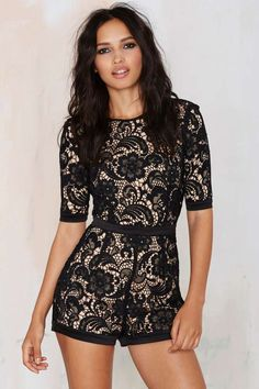 Misha Collection Aria Lace Romper | Shop Product at Nasty Gal!