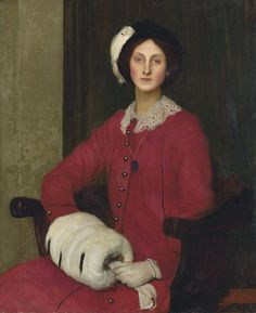 The Athenaeum - Portrait of Hilda Spencer Watson (George Spencer Watson - )
