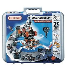 Meccano Erector Super Construction Set. 8&up. 25 motorized models,640 pieces 6-volt battery powered motor. For A's 8th? $60 out of stock