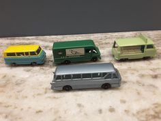 Lot of 4 Vintage Lesney Matchbox diecast van & bus #Matchbox