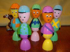 Plastic egg jockeys for Kentucky Derby. Or plastic egg people for the rest of us.
