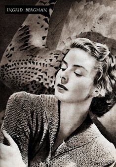 Ingrid Bergman Art Print featuring the photograph Ingrid Bergman by Cuiava Laurentiu Swedish Actresses, Thing 1, Ingrid Bergman, Poster Prints, Art Prints, Great Photos, Old Hollywood, All Art, Fine Art America