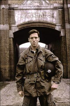 Damian Lewis- band of brothers, exact same spot as Dick Winters himself stood only 64 years before