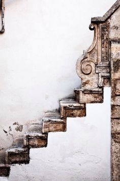 Rustic chateau stairs. Unbetitelt