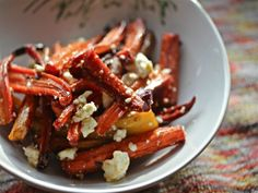 Charred, Oven-Roasted Carrot Salad With Feta Cheese | Serious Eats - Caramelized oven-charred carrots are finished with tangy feta for a refreshing change of pace.