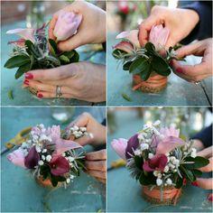 Horseshoe Boutique floral arrangement diy