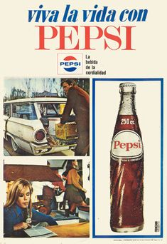 live the good life WITH pepsi! Old Advertisements, Retro Advertising, Retro Ads, Old Posters, Vintage Posters, Vintage Signs, Vintage Ads, Pepsi Ad, Poster Ads