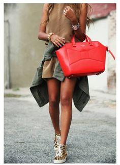 Kate Spade Beau Bag in red