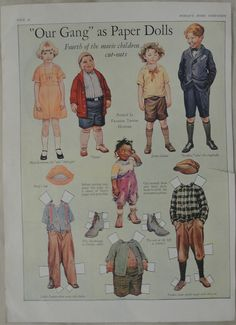 Our Gang As Paperdolls Woman's Home Companion by CuriousBookShop