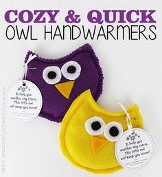 OWL Hand Warmer - Cute Gift Idea!   11 Hand Warmers to Make Yourself