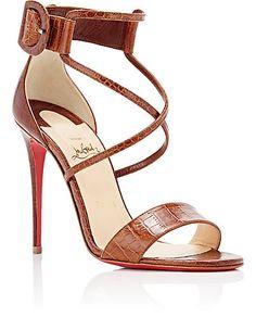 Womens Choca Specchio Leather & Mesh Sandals Christian Louboutin p1St9